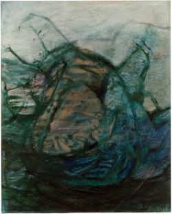 Prázdniny_v_CALA_DOORII_kresba_olej_a_pastel_60x40cm_1997