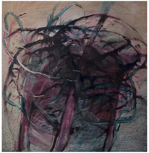 NEURO kresba olej a pastel na lepence 57x60cm 1997