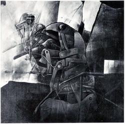 FOSILIE VI akryl 60x60 1984