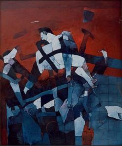 DUSNO olej na plátně  120x130 1990