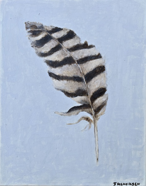 Hawk Feather 2 (canvas)-10x14""