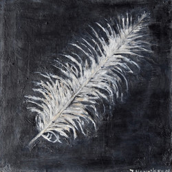 """Heron Feather 2"" (board) -10x10"""