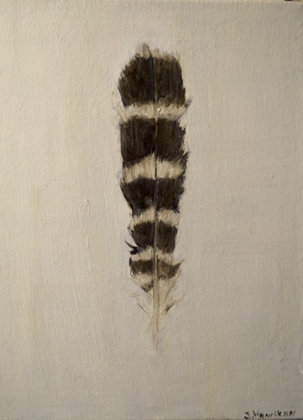 Hawk Feather 3 (canvas)-10x14""