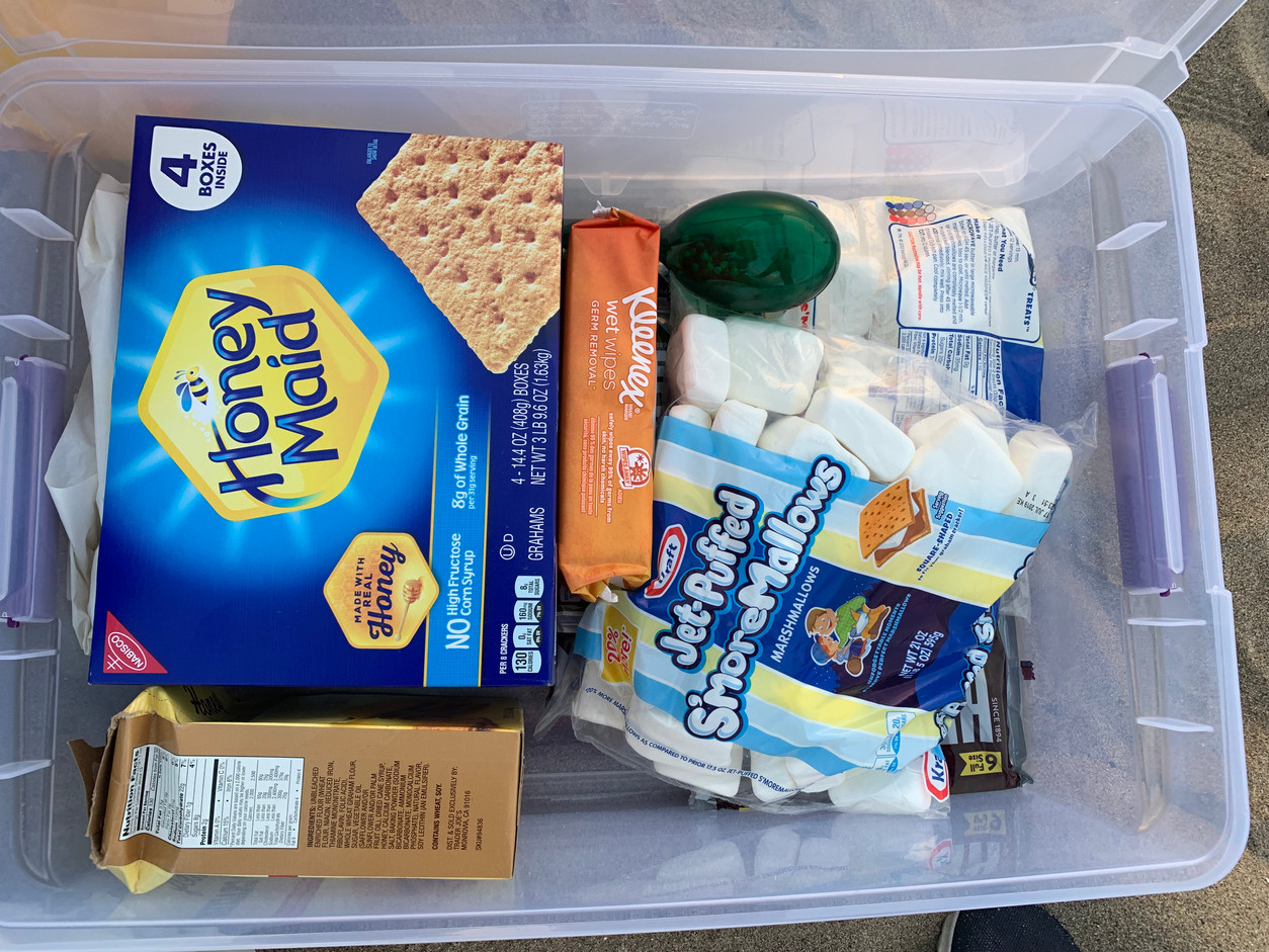 Supplies for s'mores