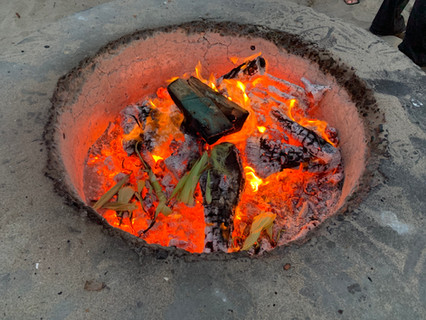 Fire pit at Dockweiler