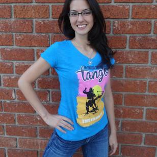 Endless Summer Tango v-neck tee