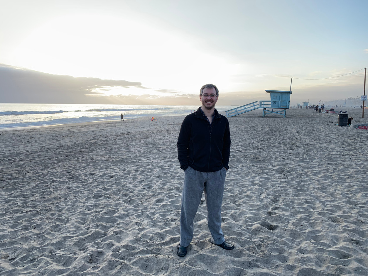 Adam Cornett at Dockweiler Beach