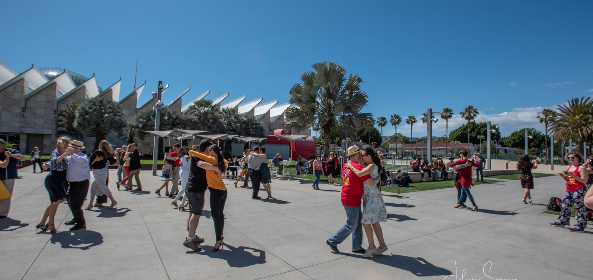 Guerilla flashmob at LACMA 2019