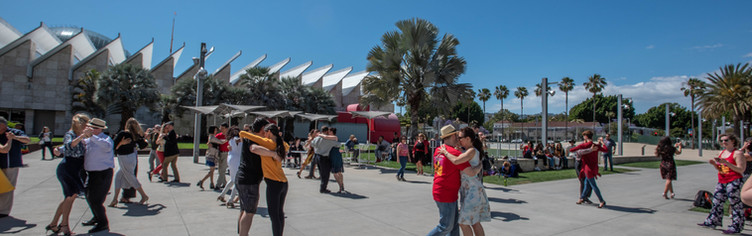 Guerilla flashmob at LACMA 2019