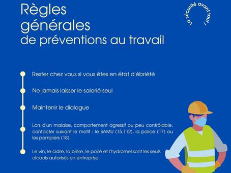 Règles générales de préventions au travail