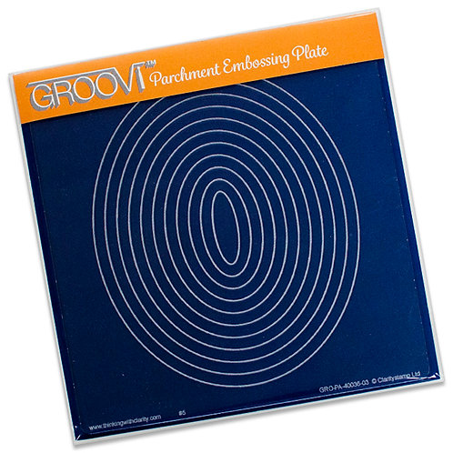 Groovi - Shapes Nested Ovals Plate A5