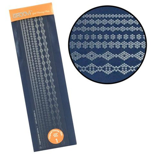Diagonal Pattern No. 1  Groovi Border Piercing Grid