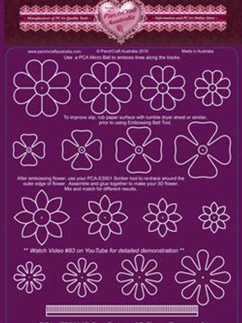 PCA EasyEmboss Flower Toppers 3D (2) - TP3535E