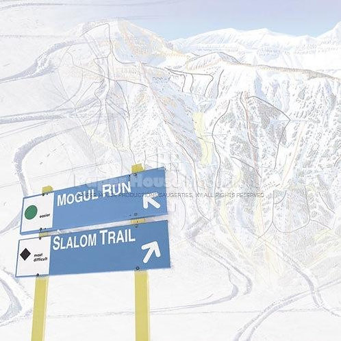 Skiing Trail Map - 12 x 12 paper