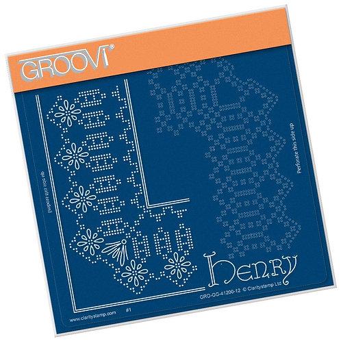 Henry Lace Frame Corner Duet Grid A5 Plate