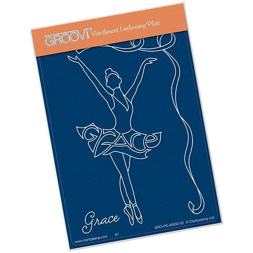 Grace Ballerina Groovi A6 Plate
