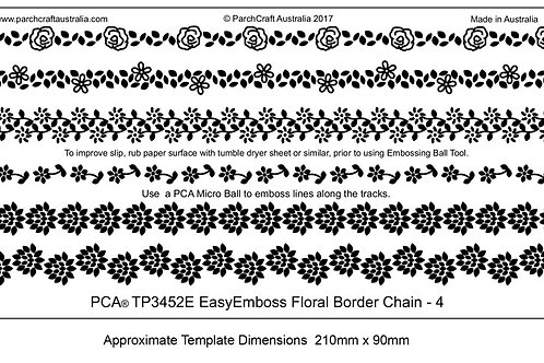 EasyEmboss Floral Border Chain - 4 ParchCraftAustralia