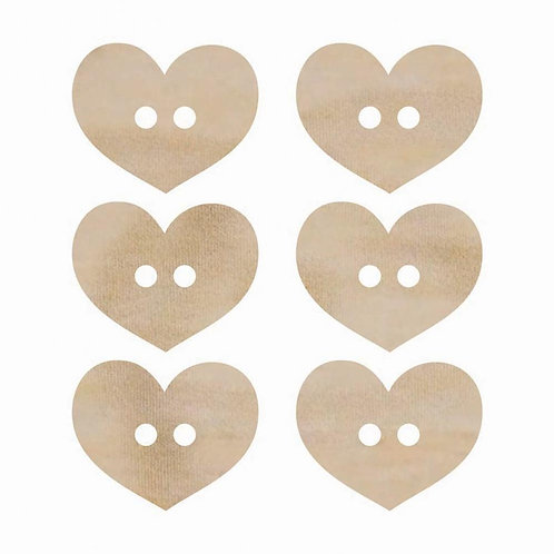Kaisercraft Wooden Heart Buttons