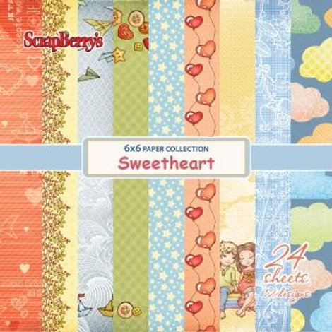 6 x 6 paper set - Sweetheart by Scrapberry