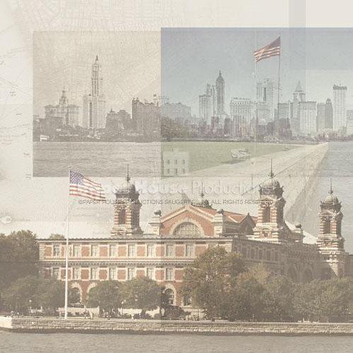 Ellis Island Collage - 12 x 12 paper