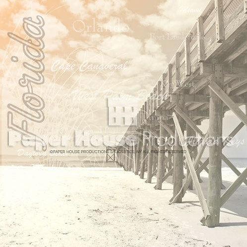 Florida Pier - 12 x 12 paper