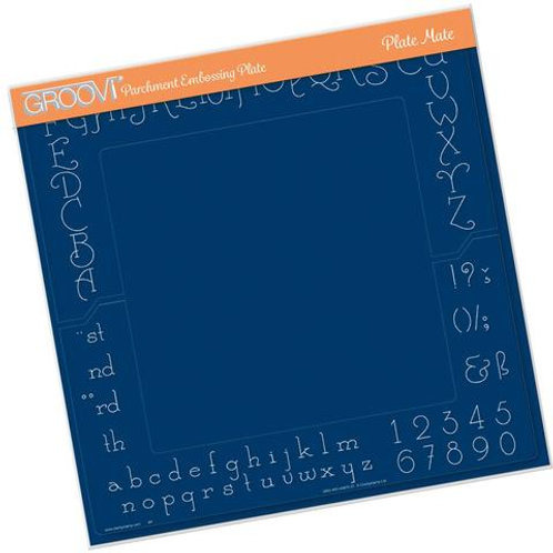 Alphabet & numbers A4 Square Plate Mate - GRO-WO-40875-21
