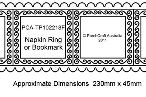 PCA Fine Napkin Ring or Bookmark with Large Scallop Easy edge