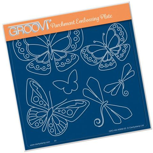 Tina's Butterfly Fun A5 Plate Groovi