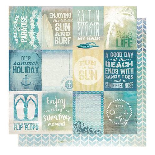 Sandy Toes - Beach Bum 12 x 12 paper