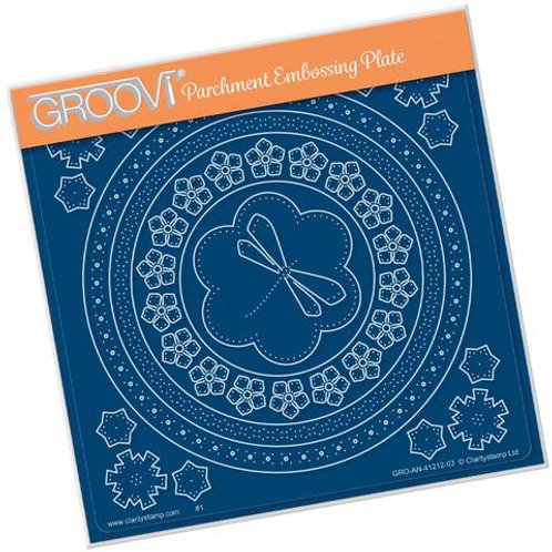 Tina's Dragonfly Embroidery A5 Groovi Plate - GRO-AN-41212-03