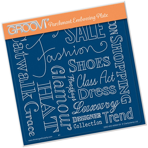 Groovi - Fashion Word A5 Word Plate