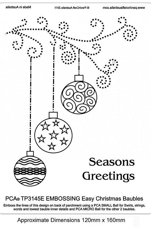 PCA EasyEmboss - Christmas Baubles