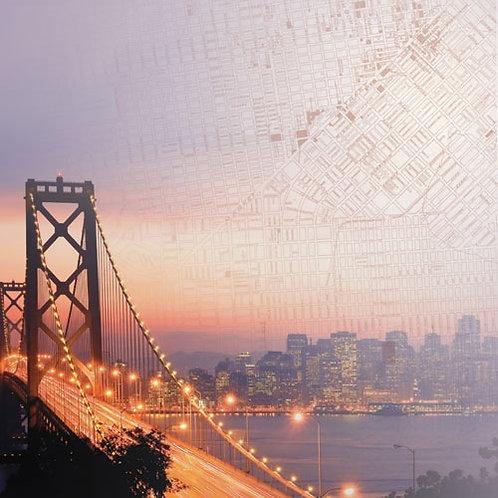 Bay Bridge San Francisco - 12 x 12 paper