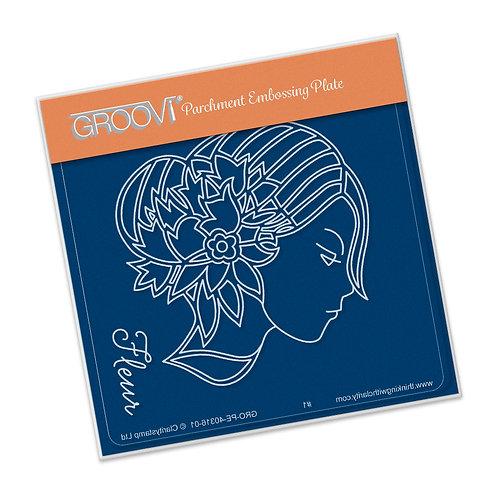 Groovi - Cameo Fleur Baby Plate A6