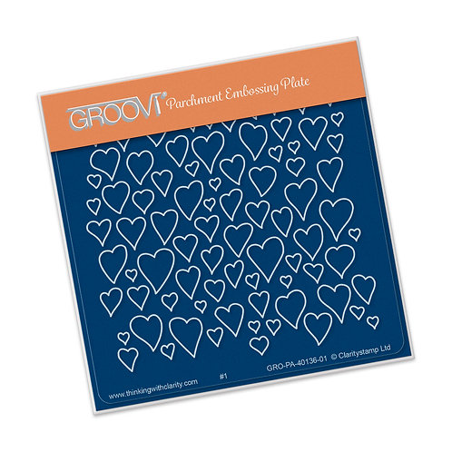 Groovi - A6 Hearts Baby Plate