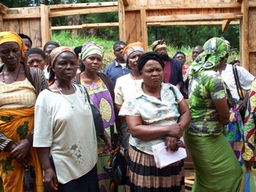 Women in the demonstration farm