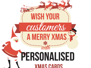 Show thanks this Festive Season with branded Christmas Cards