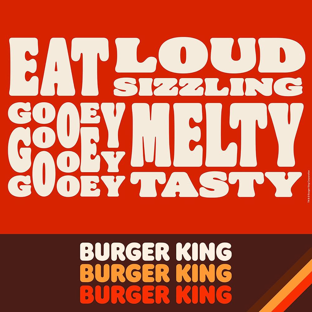 burger king logo 2021 font flame