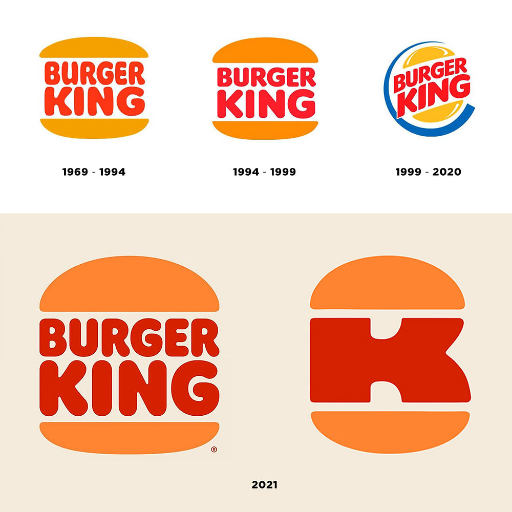 storia logo burger king 1969-2021