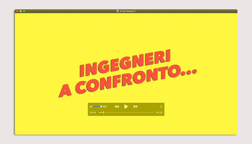 Screenshot iniziale del video Ingegneri a Confronto su YouTube