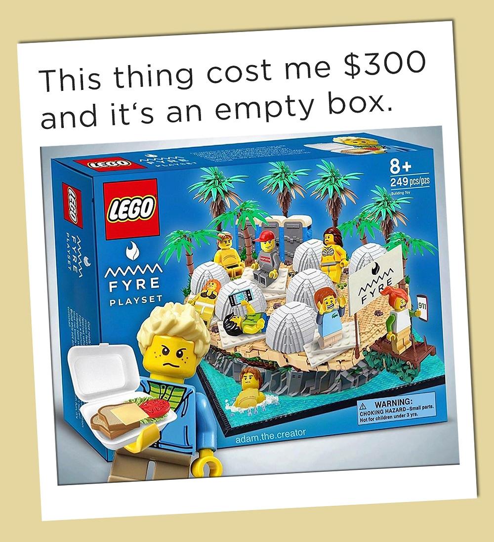 Fyre Festival Lego Playset