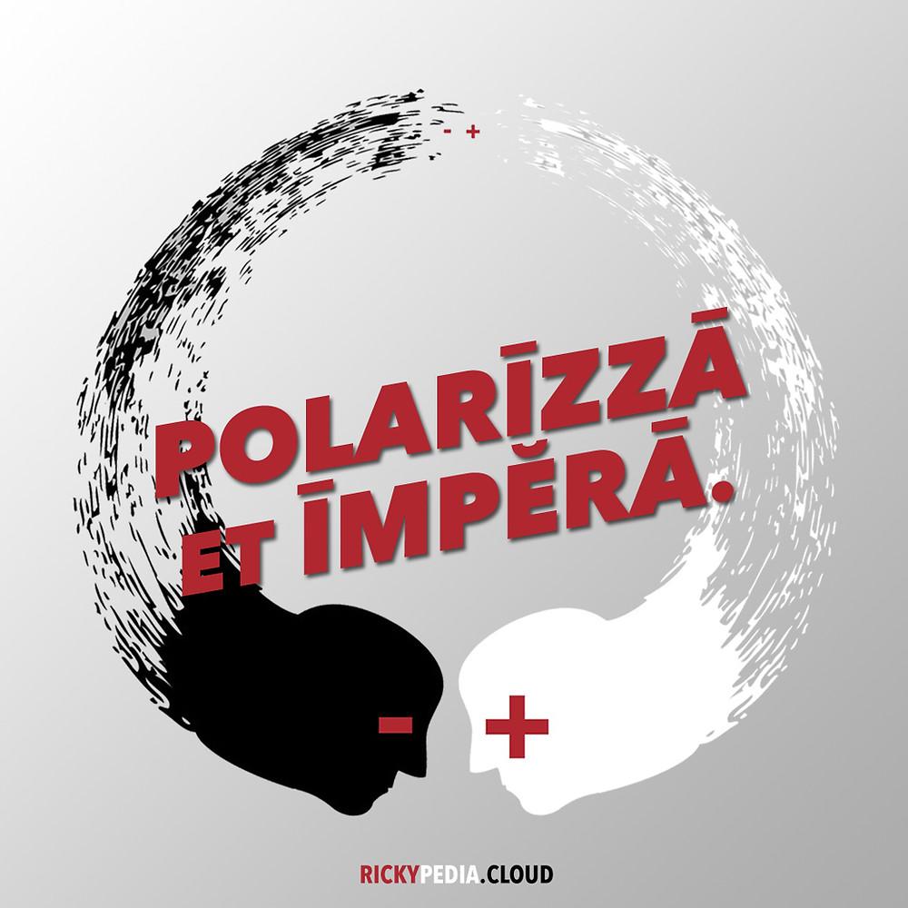 copertina del post polarizza et impera rickypedia.cloud