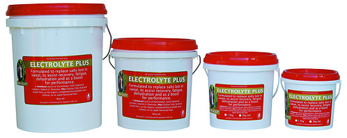 Equi-gold Electrolyte Plus tubs. Electrolyte & B-group vitamin supplement for performance horses racing or training.