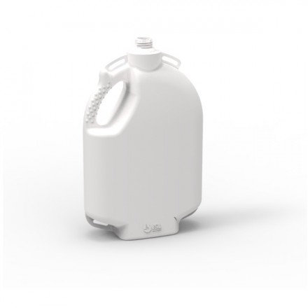Simcro 5L complete backpack. Freestanding and moulded from durable HDPE. Allows for easy filling