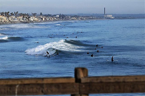 The Pier, Waves and the Smokestack