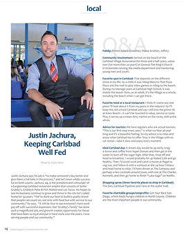 Portrait of Justin Jachura for Carlsbad Magazine