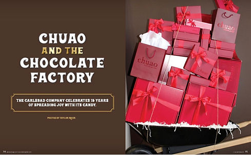 Chuao & The Chocolate Factory (my first assignment with Carlsbad Magazine, WInter 2017)