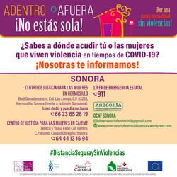 ¿Sabes a dónde acudir tú o las mujeres que viven violencia en tiempos de COVID-19?