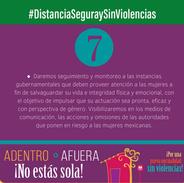 Campaña #DistanciaSeguraySinViolencias