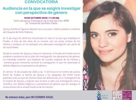 COMUNICADO | Fiscalía de Puebla debe investigar con perspectiva de género: OCNF.